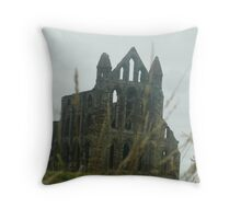Whitby Abbey 4 Throw Pillow