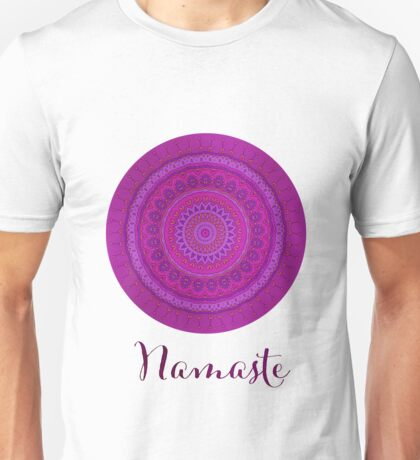 Namaste Mandala Yoga Hindi Symbol Unisex T-Shirt