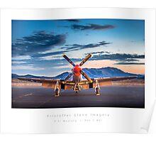 """P-51 Mustang """"Man-O-War"""" Poster"""
