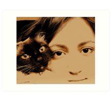TWO GIRL s Art Print