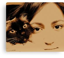 TWO GIRL s Canvas Print
