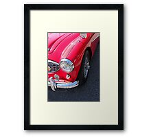 Retro Red Framed Print