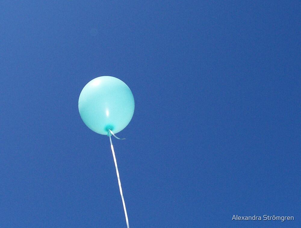 blue balloon by Alexandra Strömgren
