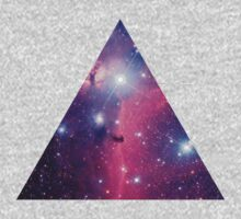 Purple Galaxy Triangle Kids Clothes