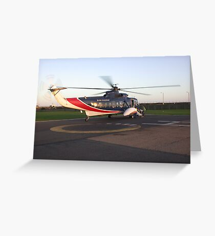 Sikorsky s61 helicopter Greeting Card