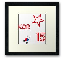 SOUTH KOREA STAR Framed Print