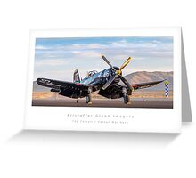 "F4U Corsair ""Korean War Hero"" Greeting Card"