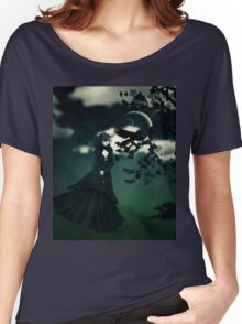 Woman in black Women's Relaxed Fit T-Shirt