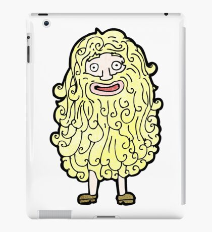 cartoon man with huge beard iPad Case/Skin