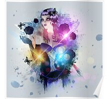 Abstract background with gothic girl 2 Poster