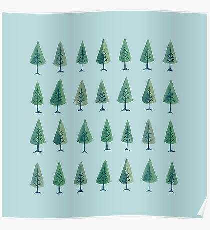 Triangle Trees Poster
