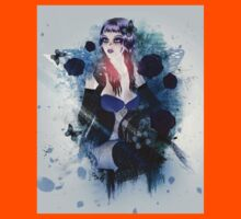Abstract background with gothic girl 3 Kids Clothes