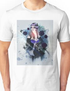 Abstract background with gothic girl 3 Unisex T-Shirt