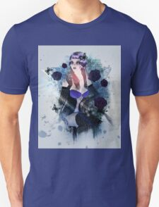 Abstract background with gothic girl 3 T-Shirt