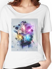 Abstract background with gothic girl 2 Women's Relaxed Fit T-Shirt