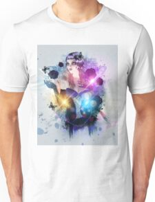 Abstract background with gothic girl 2 Unisex T-Shirt