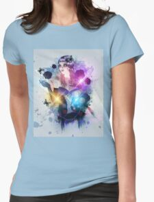 Abstract background with gothic girl 2 Womens Fitted T-Shirt