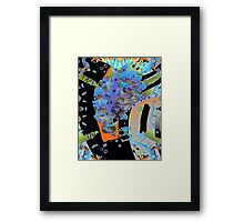 Sheep Gone Retro Framed Print