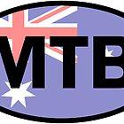 Mountain Biking Australia Flag by esskay