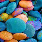 Neon Pebbles by Deborah  Bowness