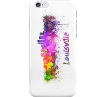 Louisville skyline in watercolor iPhone Case/Skin