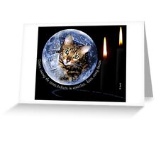 Zen in a Snow Globe Greeting Card