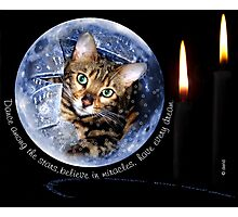 Zen in a Snow Globe Photographic Print