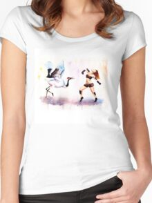 Redhead dances Women's Fitted Scoop T-Shirt