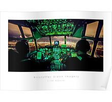 C-130 Hercules Night Landing Poster