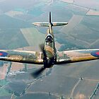 BBMF Spitfire IIa P7350 over South Lincolnshire by Colin Smedley