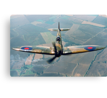 BBMF Spitfire IIa P7350 over South Lincolnshire Canvas Print