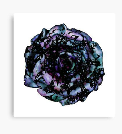 pearlescent Splatter Rose Canvas Print
