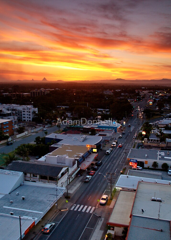 Sunset Over Bulcock Street, Caloundra  by AdamDonnelly
