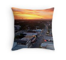 Sunset Over Bulcock Street, Caloundra  Throw Pillow