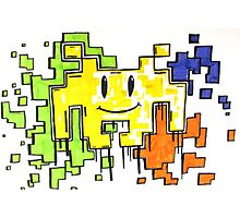 smiley space invaders  Photographic Print