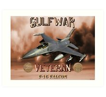 F-16 Falcon Gulf War Veteran Art Print