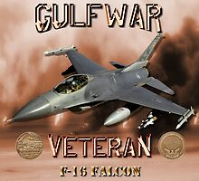 F-16 Falcon Gulf War Veteran by Mil Merchant