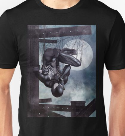 Black Spidey calling Black Cat. Unisex T-Shirt