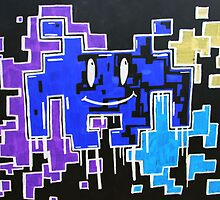 Negative smiley space invaders  by C-Hooper96