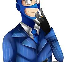 Blu Spy Toon by ShinyhunterF