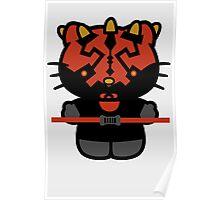 Darth Kitty Darth Maul Hello KItty Poster