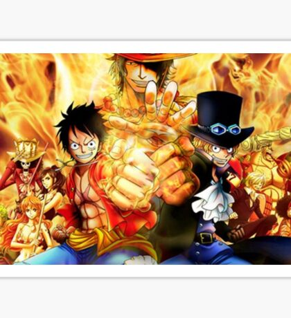 One Piece epic cool monkey d luffy ace epic Sticker
