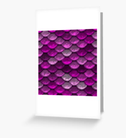 Mermaid Scales in shades of pink Greeting Card