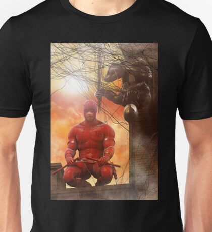 Daredevil and Black Spidey Team-Up Unisex T-Shirt