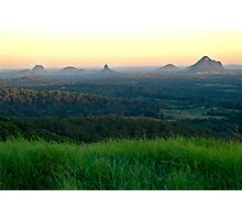 Glasshouse Mountains Sunset Photographic Print