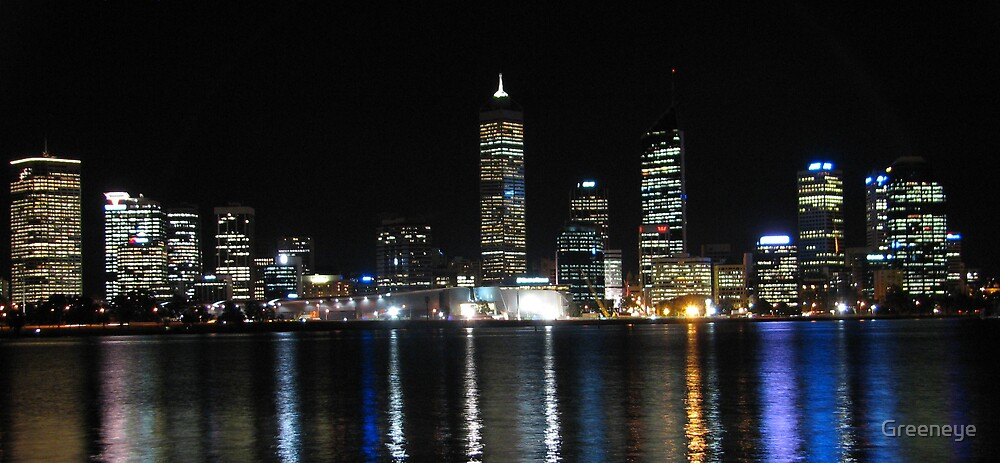 CITY OF PERTH NIGHTSCAPE by Greeneye