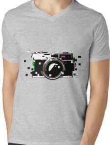 Camera Glitch Mens V-Neck T-Shirt