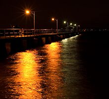Woody Point Pier at Night by Judy Harland