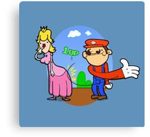 Princess Peach is in da' castle! Canvas Print