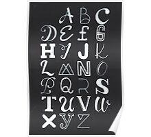 Alphabet typography Poster